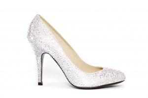 Zapato plateado boda