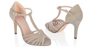 Zapato champagne boda
