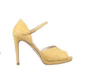 Zapato amarillo boda