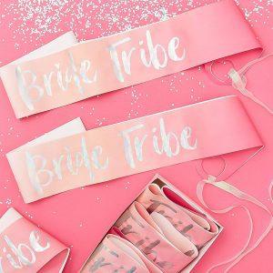 Banda rosa Bride Team