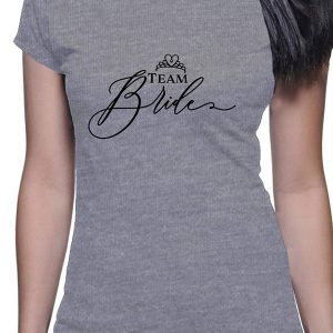 Camiseta Bride Team gris