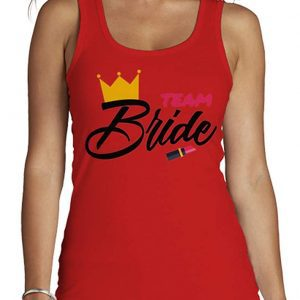 Camiseta tirantes roja Team Bride