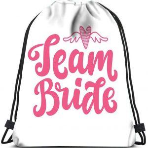 Mochila Team Bride blanca y rosa