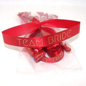 Pulsera roja Team Bride