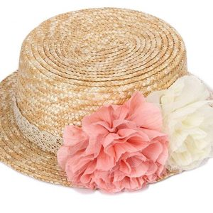Sombrero paja flores