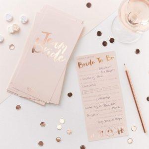Tarjetas de consejos a la novia