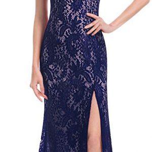 Vestido Dama de Honor azul encaje