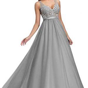 Vestido Dama de Honor gris