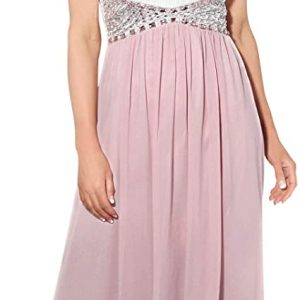Vestido Dama de Honor rosa y blanco