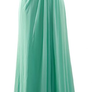 Vestido Dama de Honor azul verdoso